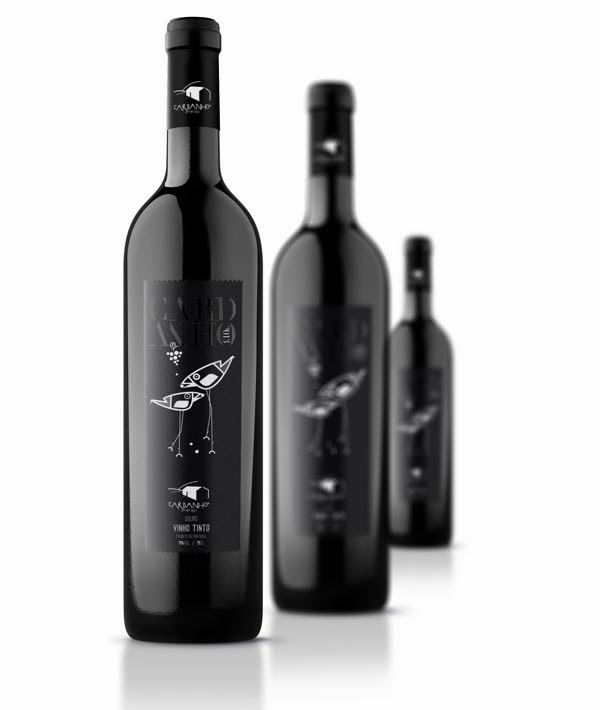 It is a graphic of Satisfactory Wine Label Design Inspiration