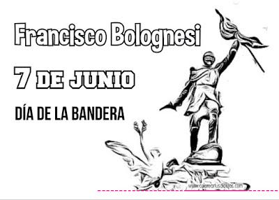 Colorear dibujo de Francisco Bolognesi día de la Bandera de Perú