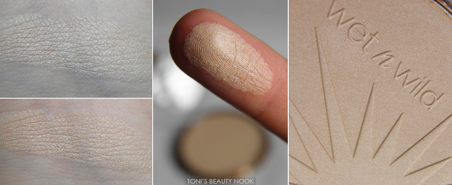 wet n wild reserve your cabana highlighter swatches