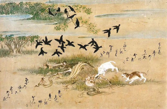 Kusozu Jepang 9 fase pembusukan manusia