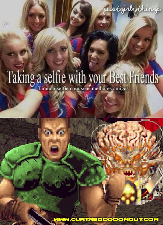 Tirando selfie com as amigas