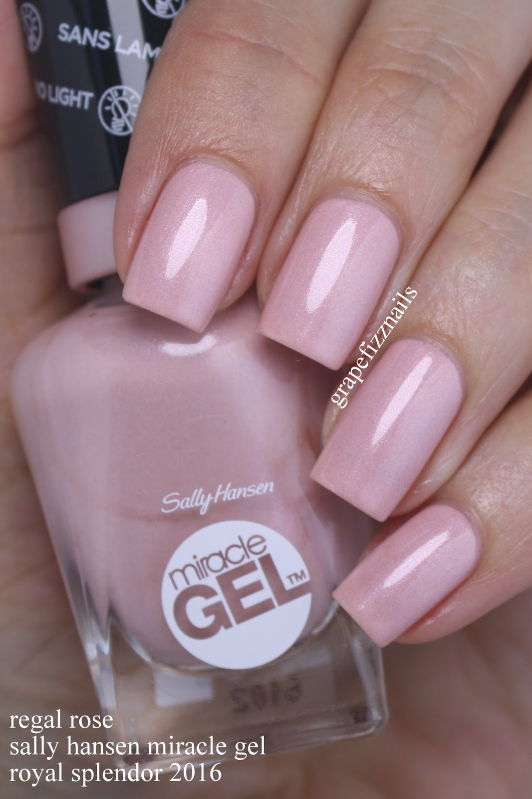 Grape Fizz Nails: Sally Hansen Miracle Gel Royal Splendor Collection ...