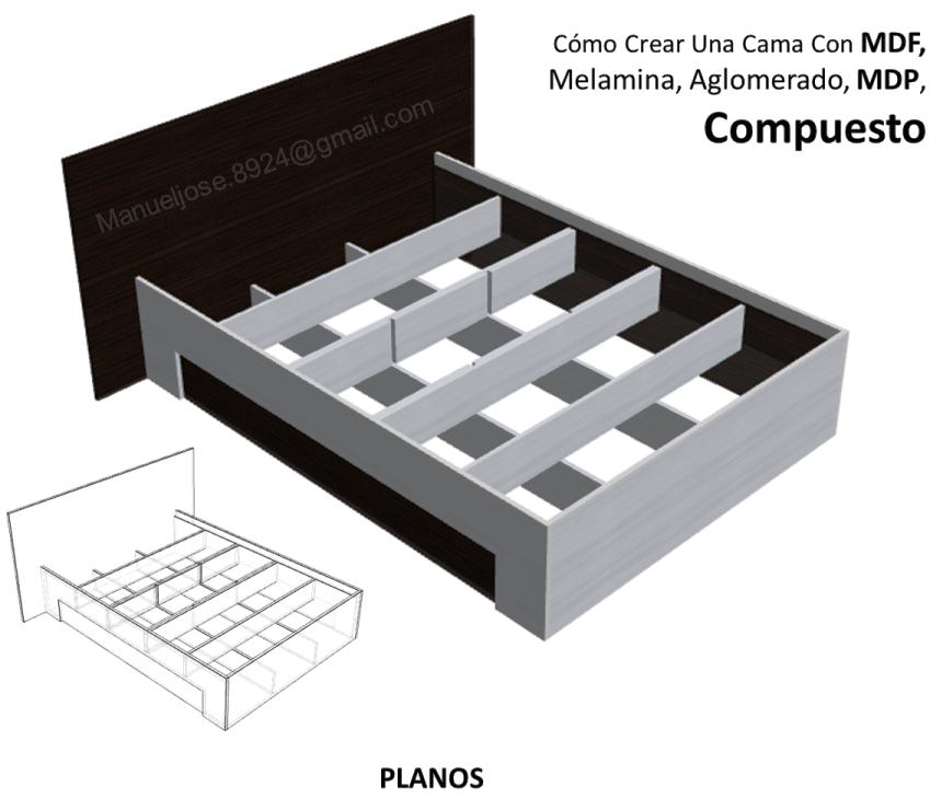Dise o de muebles madera c mo crear una cama con mdf for Planos y diseno de muebles