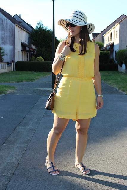 combi short jaune naf naf