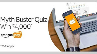 All Answers of Amazon Pay Myth Buster Quiz - Win Rs.4000/- as Amazon Pay Balance