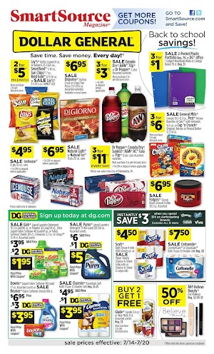 Dollar General Ad 7/14/19 and Weekly Ad 7/21/19