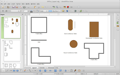 Cara Menggambar Office Layout di LibreOffice Draw