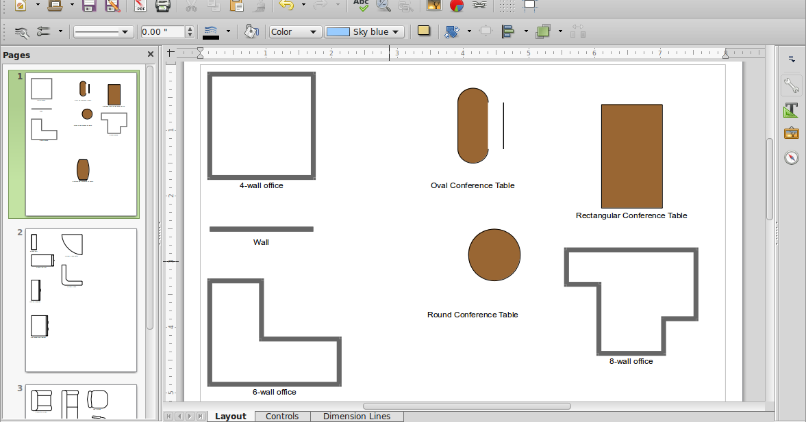 oval office layout. Cara Menggambar Office Layout Di LibreOffice Draw   ANONYMOUS LINUX: BELAJAR LEARN LINUX Oval E