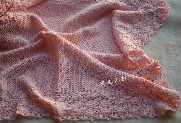 Mantilla para bebé tejida con ganchillo - con patrones | Crochet y ...