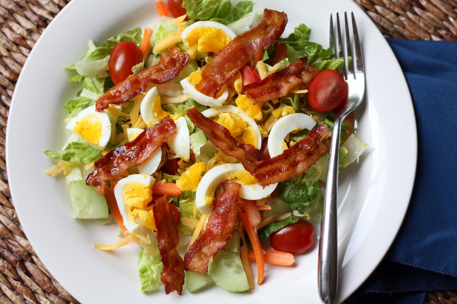 Barefeet In The Kitchen: BLT Salad and Cinnamon Toast Cake
