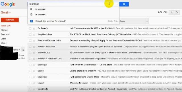 shortcut code gmail msg dekhne ka