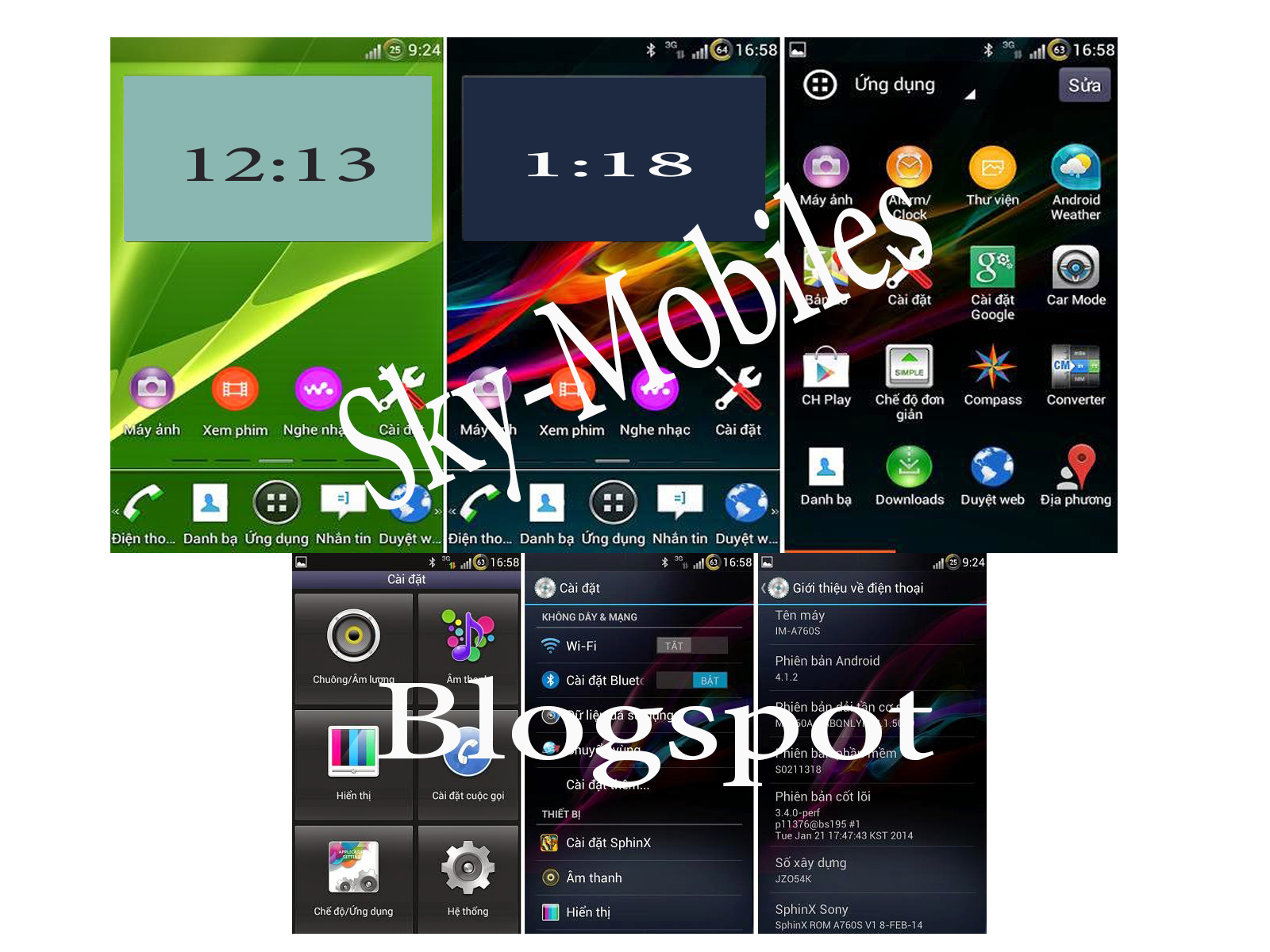 Sphinx Sony Xperia Rom For Sky 760S And 770K Stable Version