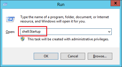 Add Startup programs in Windows 7/Windows 8