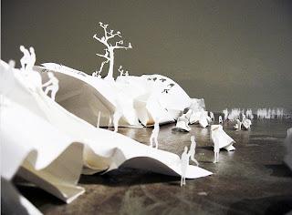 esculturas con papel -paper sculptures- corte de papel
