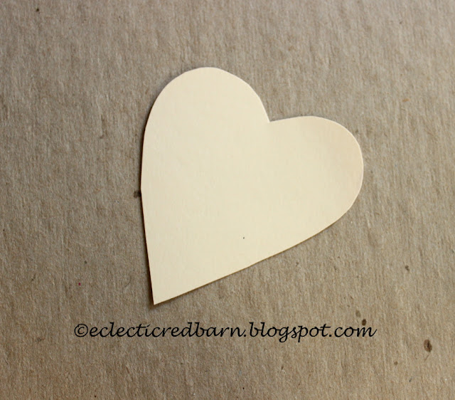Eclectic Red Barn: Valentine heart cut from card stock