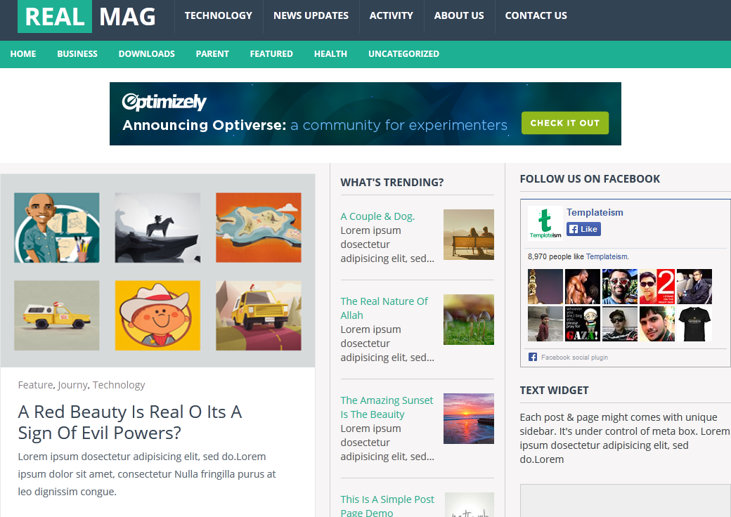 Real Mag blogger template
