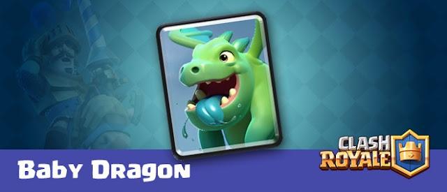 Penjelasan Tentang Kartu Baby Dragon Clash Royale, Penjelasan Kecepatan Hit, Penjelasan Jarak, Penjelasan Target Baby Dragon, Tentang Biaya Archer, Penjelasan Tentang kerusakan Baby Dragon.