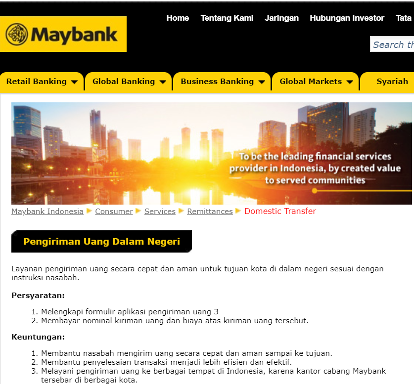 Cara Transfer Uang Dari Indonesia Ke Maybank Malaysia Warga Negara Indonesia