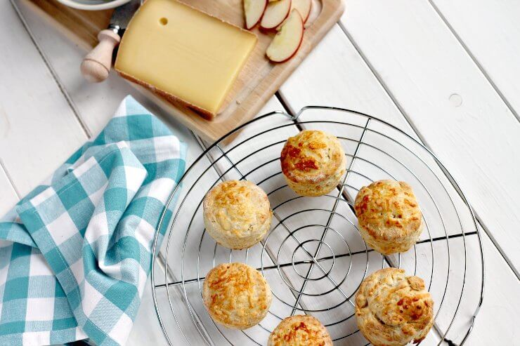 Easy Cheese Scones on a cooling rack