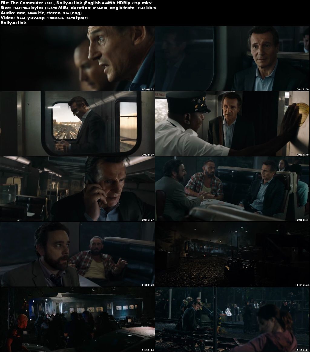 The Commuter 2018 HDRip 850MB English 720p Download