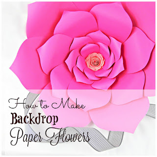 how to make large backdrop paper flowers