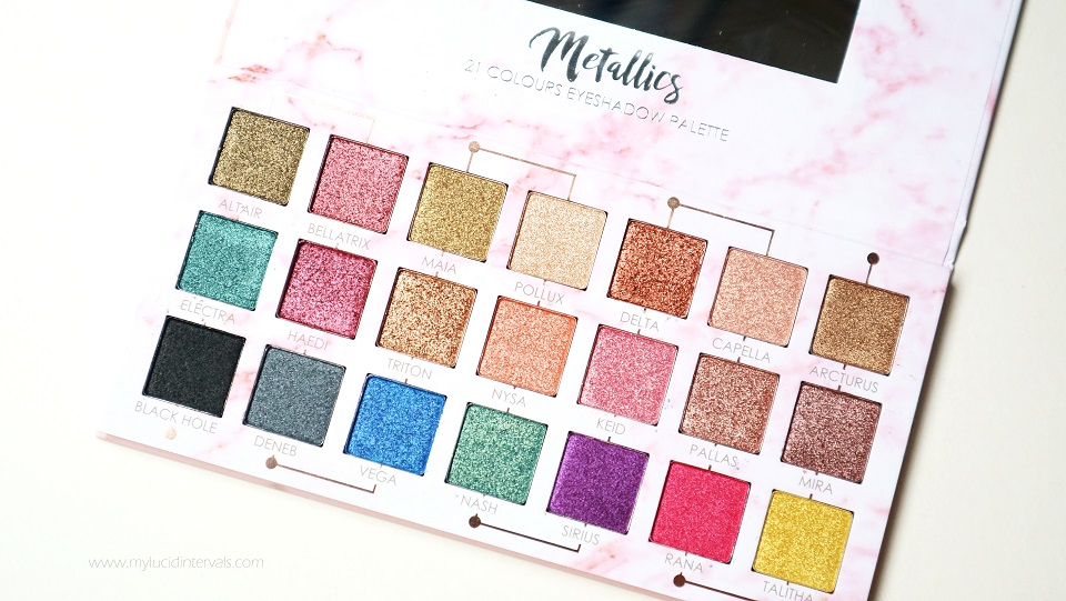 Detail Makeover Metallics Eyeshadow Palette