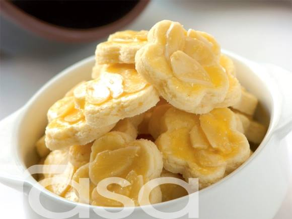 resepi kuih raya almond rangup