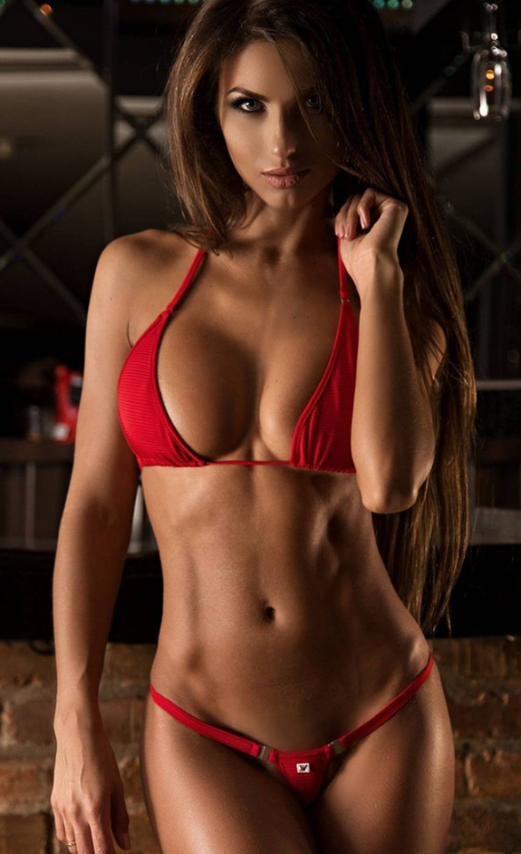 Beautiful young sexy hot girl on stock photo