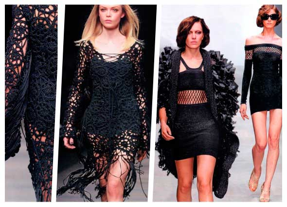 vestidos crochet elegancia con irish lace, irish lace vestidos negros