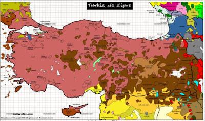 Türkiye diller haritası