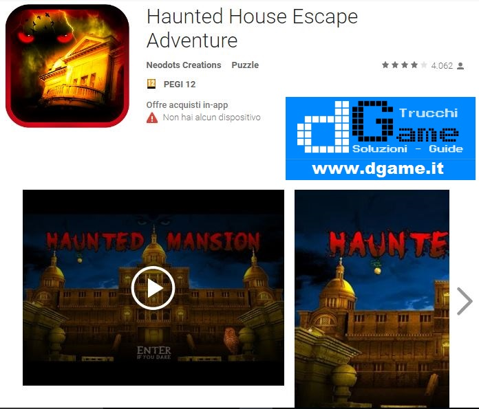 Soluzioni Haunted House Escape Adventure (Mansion) di tutti i livelli | Walkthrough guide