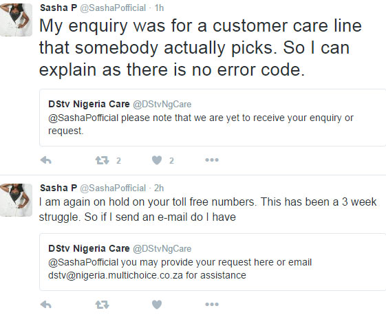 Rapper Sasha P blasts DSTV for ignoring her complaints