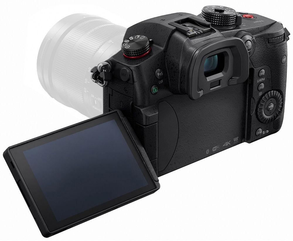 Panasonic Lumix GH5s, вид сзади откинутый экран