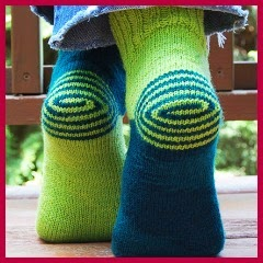 Calcetines con espirales