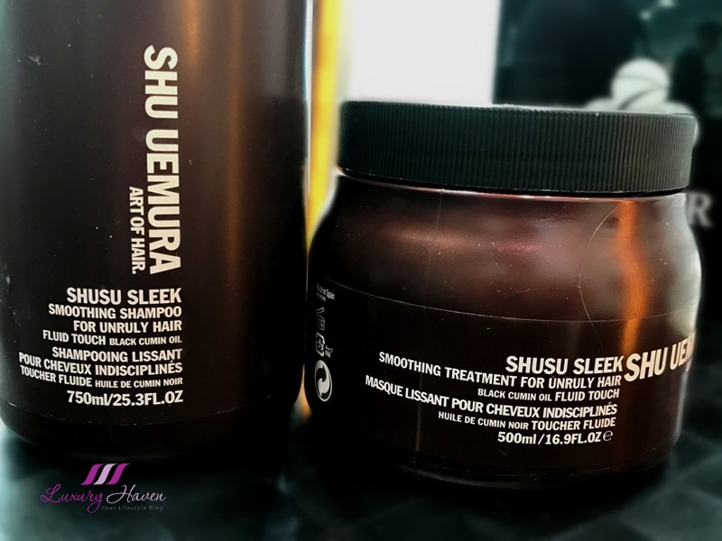 shu uemura shusu sleek smoothing shampoo treatment masque