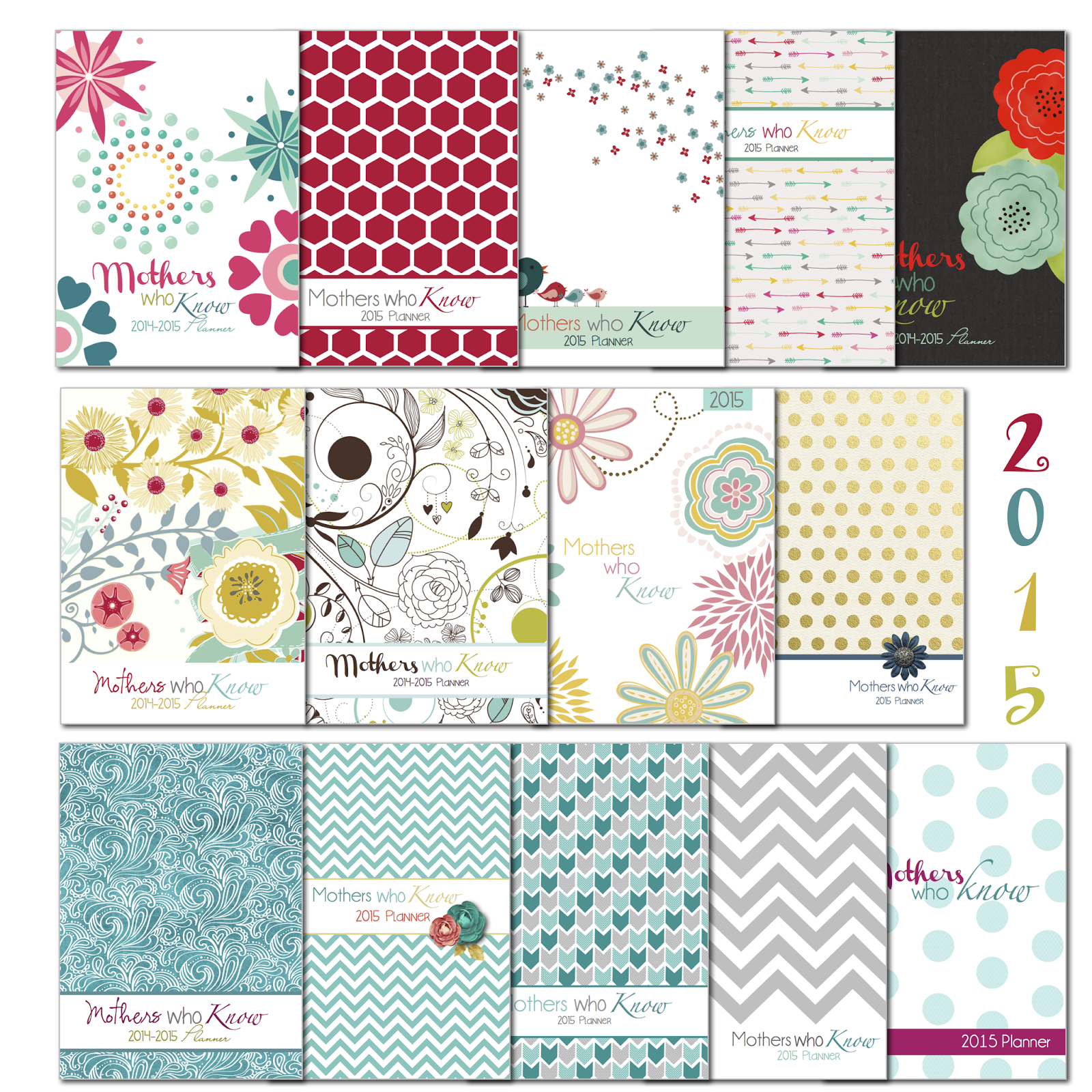 Mormon Mom Planners Monthly Planner Weekly Planner 2015