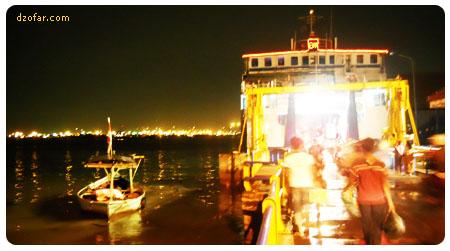 Pelabuhan kamal Malam Hari