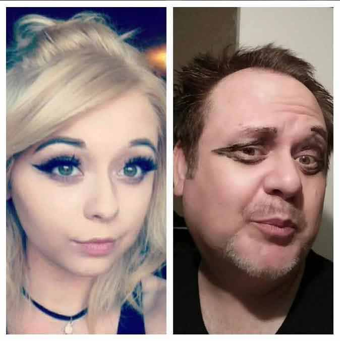 Dad Hilariously Recreates Daughter's Racy Selfies And Gets 2x More Followers Than Her