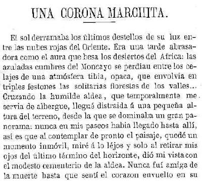 Fragmento de la publicación en La Mesa Revuelta