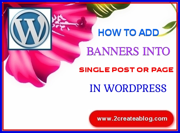 How to Add Banners into Single Post or Page