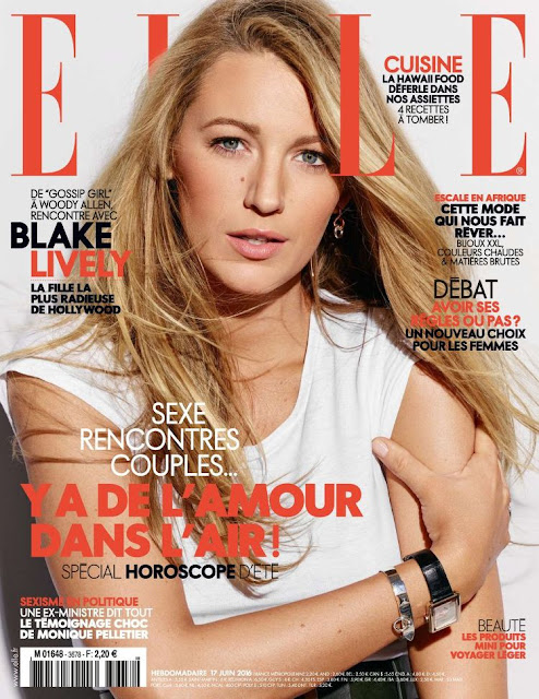 Actress, Model, @ Blake Lively - Elle Magazine France June 2016