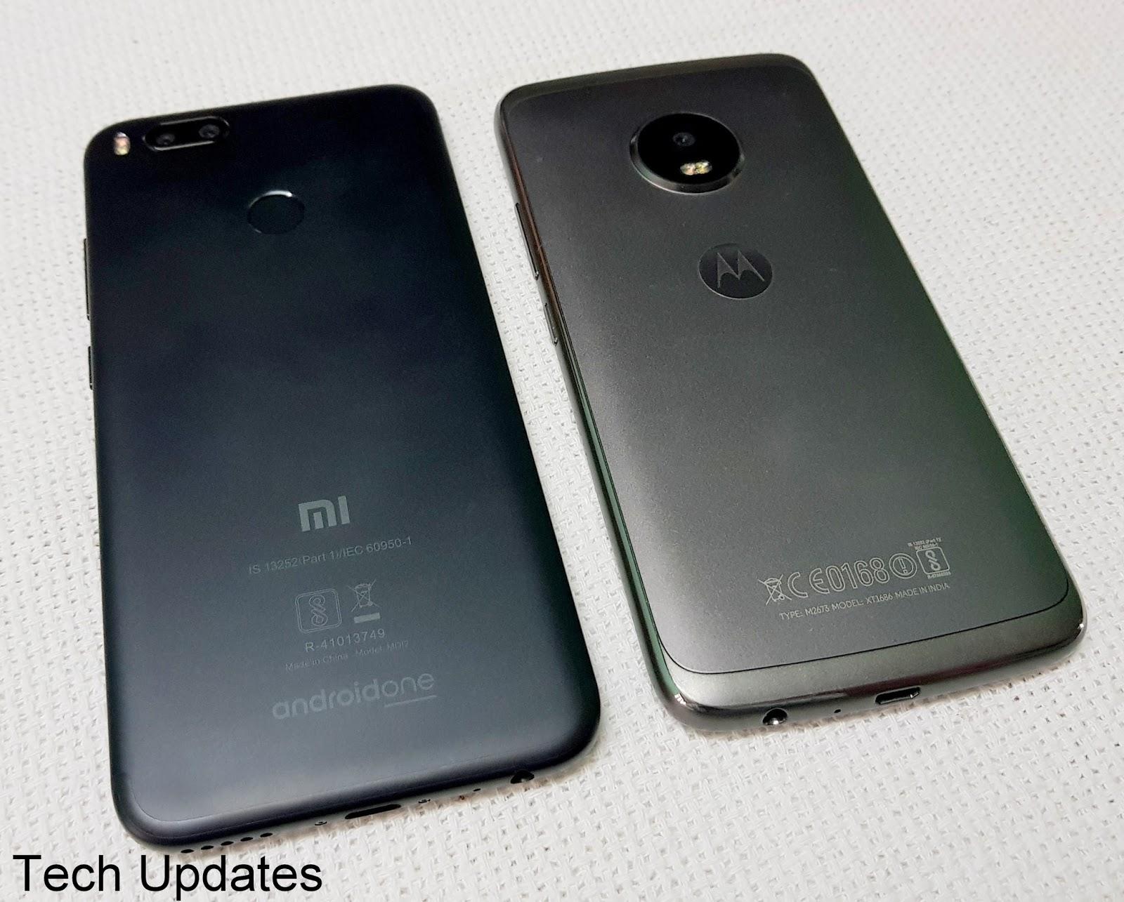 Xiaomi Mi A1 vs Moto G5 Plus Camera, Performance, Features
