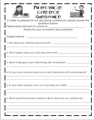 A Quick Search Will Yield Lots Of Ideas For Pa Teacher Conferences This Form Was Created By Zanah Mccauley And Posted On S Pay