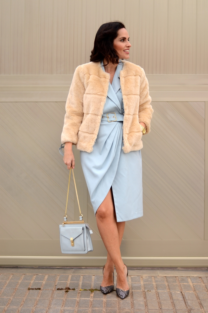 dress-fur-coat-heels-spring-street-style