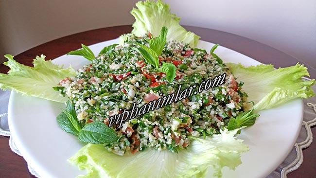 Arap Salatası Tabule Tarifi  - www.viphanimlar.com