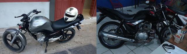 Motos roubadas são recuperadas pela PM em Araióses e Anapurus