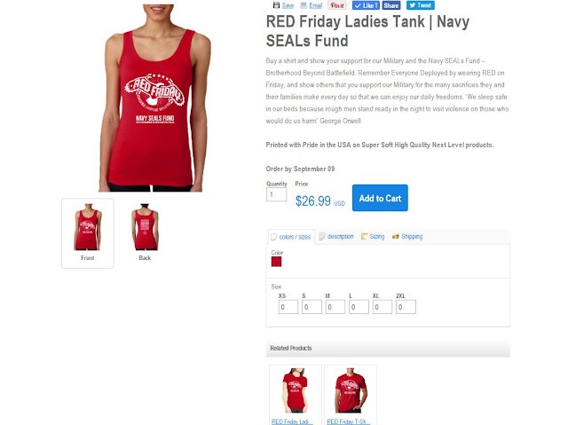 Related Product: RED Friday Ladies Tank | Navy SEALs Fund