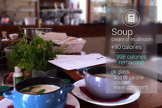 Calorie Counter while eating with Google Glass