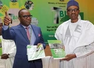 President Muhammadu Buhari and Ibe kachikwu
