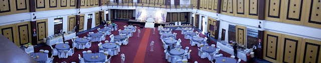 bird eye view of wedding hall